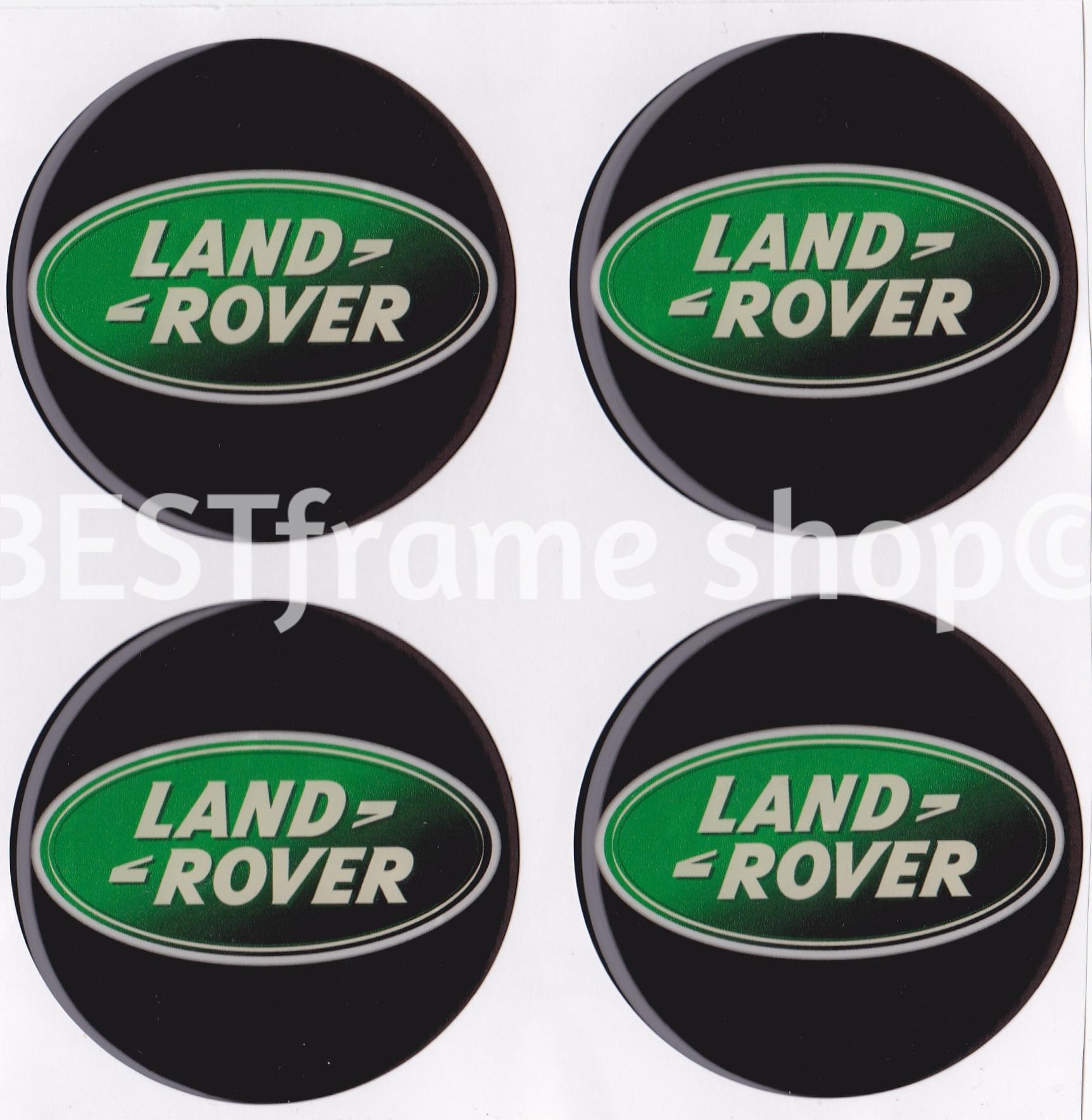 Land Rover Logo Cap: 4 X Ø 60mm LAND ROVER EMBLEMS LOGO WHEEL CENTER CAP HUB