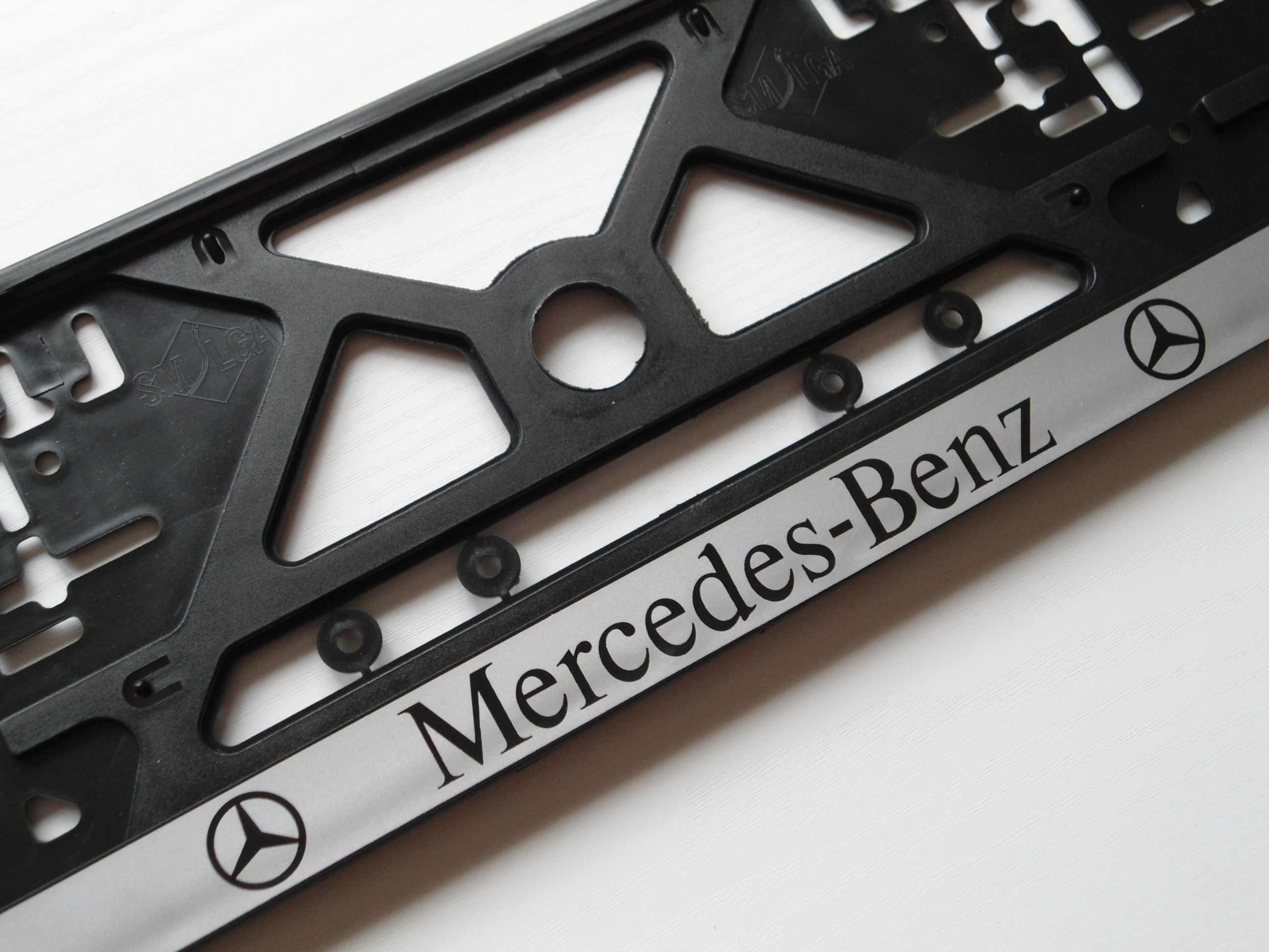 mercedes benz number plate frame holder surround screws