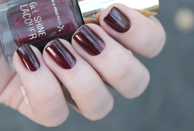 max factor gel shine lacquer sheen merlot vivid