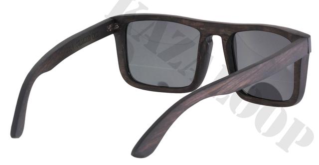 Flat Top Wood Frame Polarized lens Sunglasses occhiali da ...