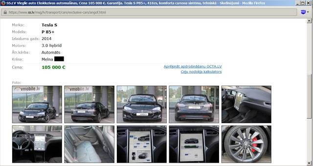 Hibrīdu tehnoloģijas, elektromobīļi Tesla-s-cena-lv.sized