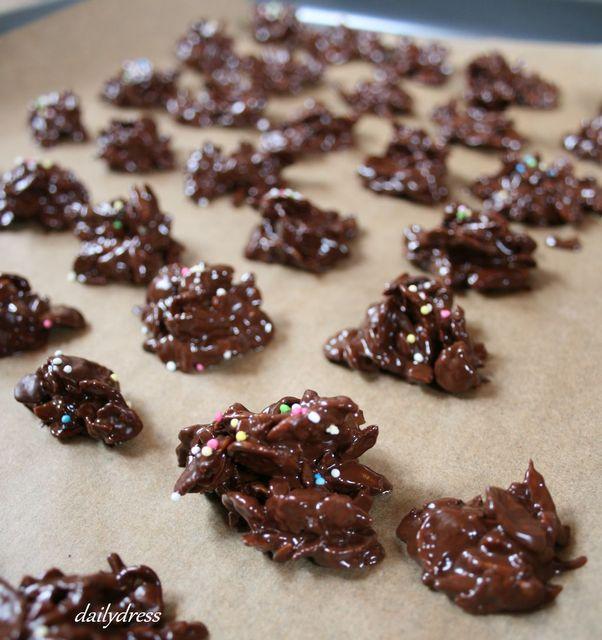 Selbstgemachte Schoko-Crunchies zum Muttertag