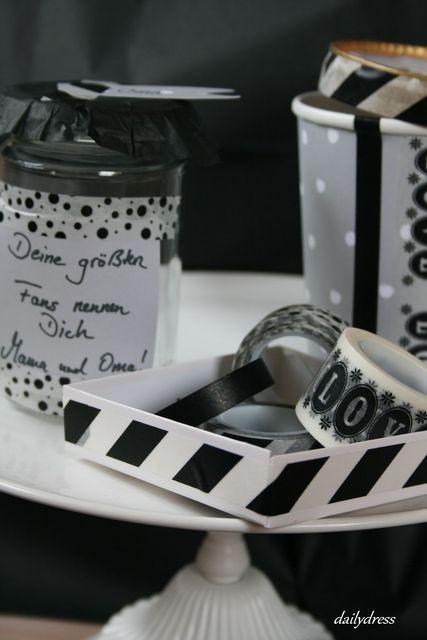 Schwarz und weiß - Geschenke in neutralen Farben